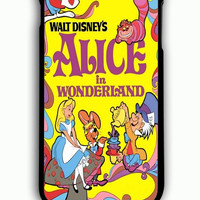 iPhone 6 Plus Case - Rubber (TPU) Cover with Alice in Wonderland Disney Cover Book Rubber Case Design