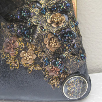 MADAME ROSE-Haute Couture Evening Bag Embellished With Vintage And Newer Accent Pieces-Purse Marked ETRA