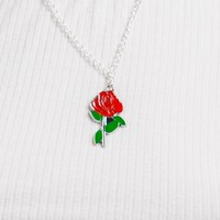 Li'l Rose Enamel Necklace