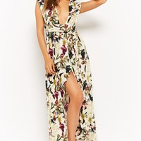 Wrap Top Tropical High-Low Dress