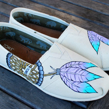 Purple Lavender and Baby Blue Feather Dream by BStreetShoes