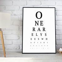 Eye Chart Quote
