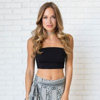 Locked In Love Crop Top In Black