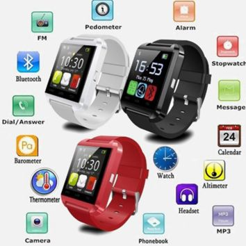 Multifunction Bluetooth Smart Watch U8 digital sport watches For iOS Android Phones High Quality  3 Colors