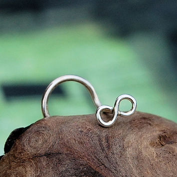 Infinity Nose Stud in Tarnish Resistant Argentium by RockYourNose