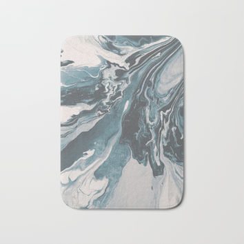 Teal (soul mate) Bath Mat by duckyb