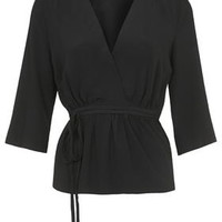 Tie Wrap Blouse - Black