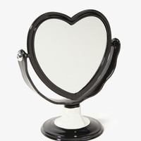Double-Sided Heart Mirror