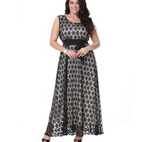 Lace Maxi Plus Size Dress For Women