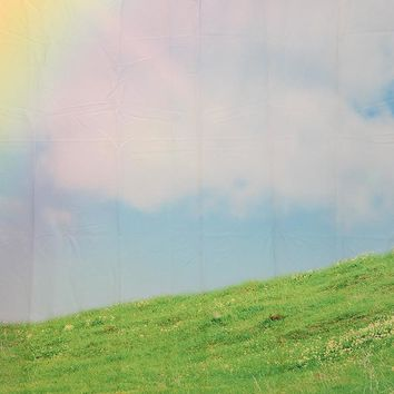 Blue Sky With Clouds And Rainbow Light Over Grass Hill Backdrop 5x6 - LCPCSL310 - LAST CALL