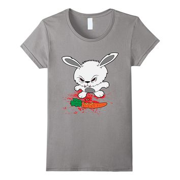Funny Halloween Scary Zombie Rabbit Bunny Blood Carrot Shirt