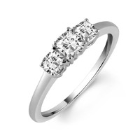 3-Stone Cushion Cut Ready For Love Diamond Engagement Ring 3/4ct Steven Singer Jewelers