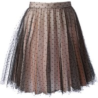 Red Valentino Bi-Colour Lace Skirt