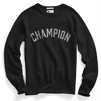 Champion Logo Sweatshirt in Black