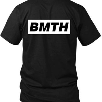 Bring Me The Horizon Simple Bmth Title 2 Sided Black Mens T Shirt