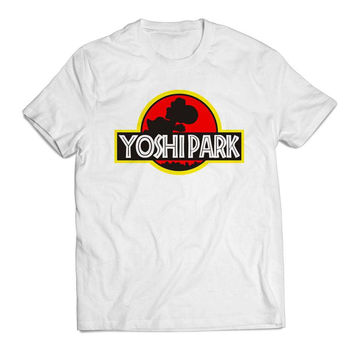 Super Mario World Yoshi Park Clothing T shirt Men