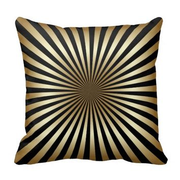 Art deco,pattern,stripes,gold,black,vintage,chic, pillows