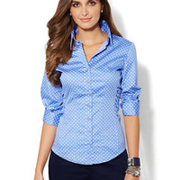 Madison Stretch Shirt - Polka-Dot Print