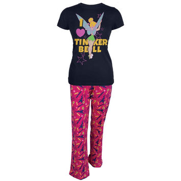 Tinkerbell - Tink Love Heart Two Piece Juniors Pajama Set