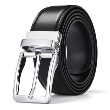 Special Military Belts For Male High Quality Genuine Leather Pin Buckle Luxury business belts Brand Man Casual