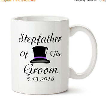 Coffee Mug, Stepfather Of The Groom, Personalized, Parent Of The Bride, Top Hat, Gifts, Bridal Party Mug, Custom Gifts,