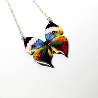 NEW Butterfly necklace Colorfully butterfly necklace, Summer jewelry, Butterfly necklace, Butterfly jewelry, Insect jewelry, Wing necklace