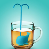 Whale Silicone Loose Leaf Diffuser Infuser - Blue