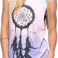 Glamour Kills Forever Dreamer Galaxy Print Muscle Tee