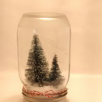 Christmas Mason jar snow Globe, Christmas tree,  Christmas scene,  Christmas decor,  Christmas centerpiece,  holiday decor.