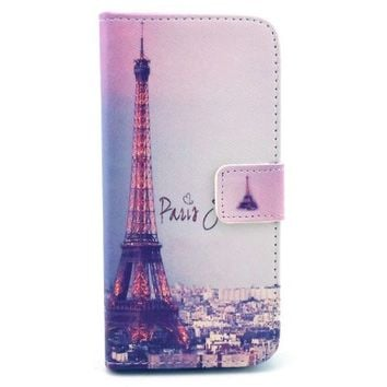 For iPhone 6 Plus Case, IVY - Paris Tower Graphic, Cute Fashion Magnetic Snap Wallet Card Flip TPU Leather With Stand Cover Case For Apple IPhone 6 Plus 5.5 Inch