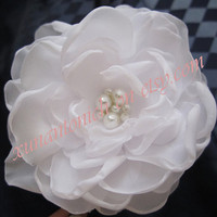 fabric plower hair comb with feather