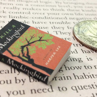 Miniature Book / To Kill A Mockingbird by Harper Lee / Tiny Book with real blank pages / 1:6 scale mini book / playscale / one sixth scale