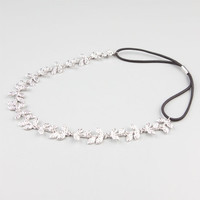 Full Tilt Metal Leaves Headband Silver One Size For Women 24357214001