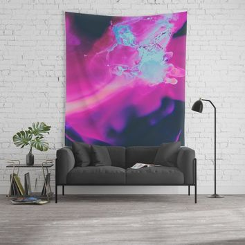 The moon was Ours Wall Tapestry by duckyb