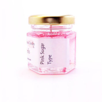 1 Honeysuckle Peach Tea Mini Candles Scented Wax Gel Home Fragrance Summer Favors Decorations Weddings Showers Events Homemade Rust Color