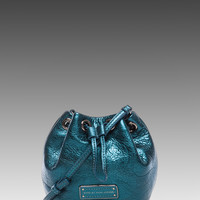 Marc by Marc Jacobs Too Hot To Handle Mini Drawstring Bag in Metallic Blue
