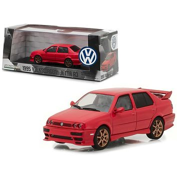 1995 Volkswagen Jetta A3 Red 1:43 Diecast Model Car by Greenlight