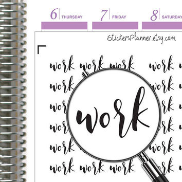Work Stickers Work Planner Functional Planner Text Stickers Day Designer Stickers Erin Condren Stickers Happy Planner Rainbow Stickers (it1)
