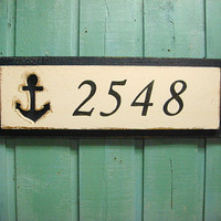 House Number Sign Starfish Beach Lake House Decor - 3 Numbers