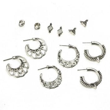 6 Pair/set Fashion simple Bohemia style earrings 171120
