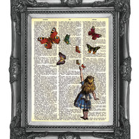 Dictionary Print Upcycled Book  Art Prints Vintage Book by nommon