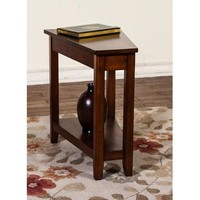 Sunny Designs Chair Side Table In Brown Cherry