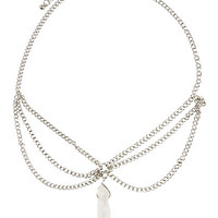 Blackheart Raw Crystal Three Chain Necklace