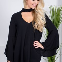 Sheer Onyx Black Top