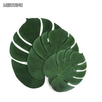 12-Piece Artificial Tropical Palm Leaves
