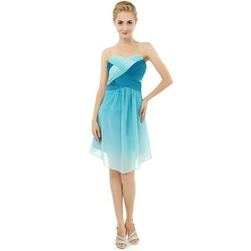 Sexy Short Maxi Elegant Prom Dresses Mint Green Slimming Stylish Shining Knee Length