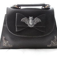 Bat Filigree Bow Mini Handbag/Clutch
