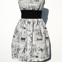 Day of the Dead Rockabilly Lolita Dress by VintageGaleria on Etsy