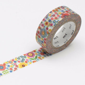 mt EX Washi Tape Single Mini Flower Garden