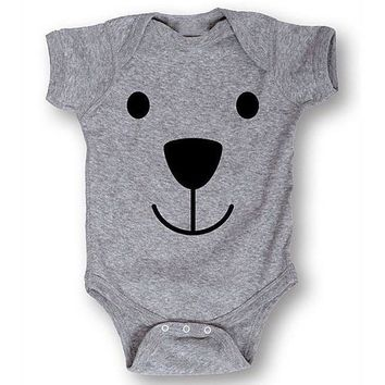 Teddy Bear Printed Baby Romper
